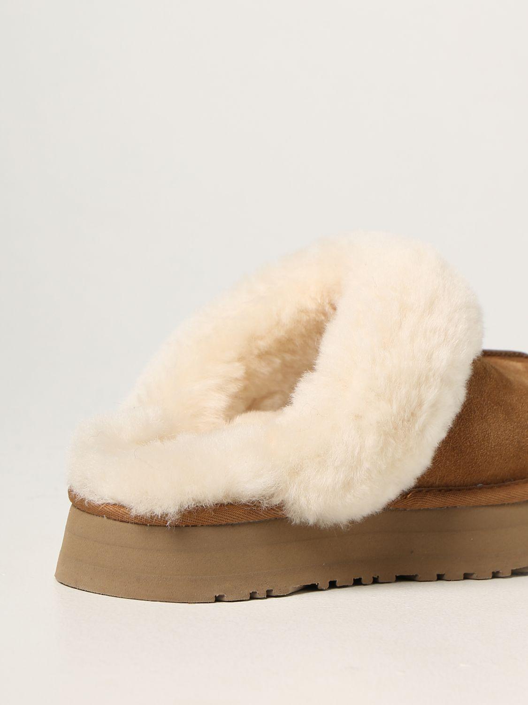 Flat shoes Ugg Australia: Ugg Australia suede sabot brown 3