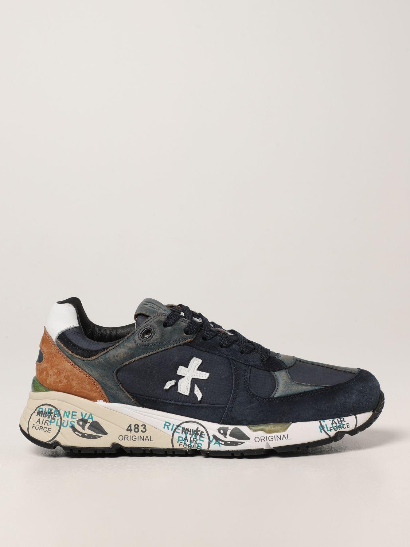 Sneakers Premiata: Sneakers Mase Premiata in pelle e camoscio blue 1
