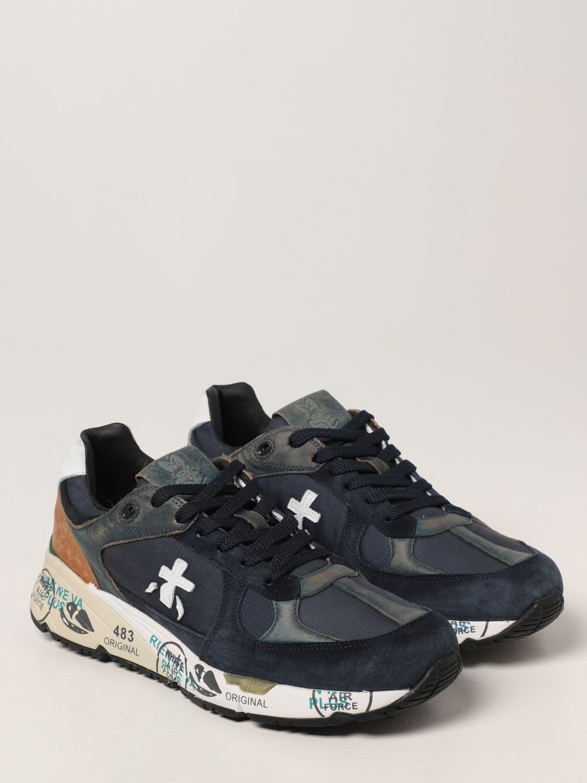 Sneakers Premiata: Sneakers Mase Premiata in pelle e camoscio blue 2