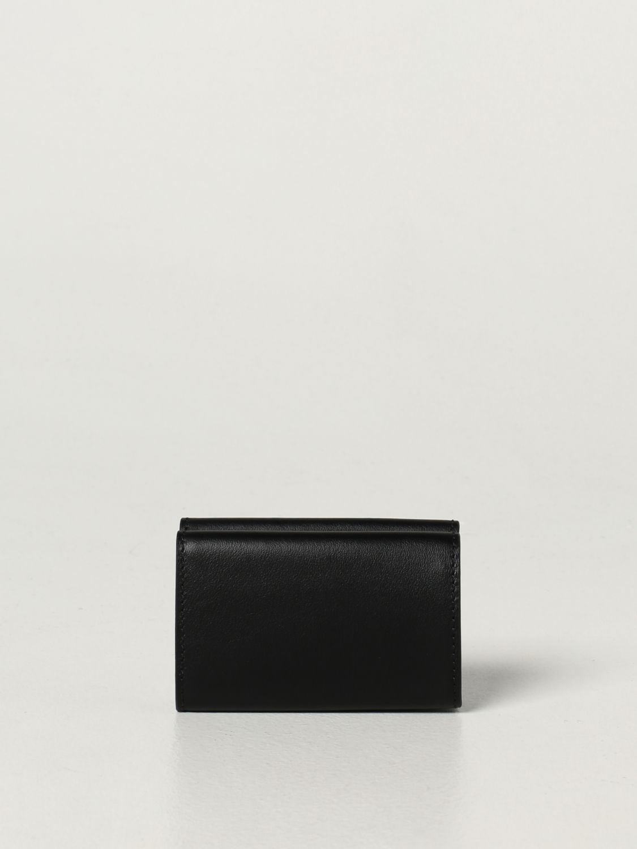 Portafoglio Moschino Couture: Portafoglio Moschino Couture in pelle con logo nero 1 3