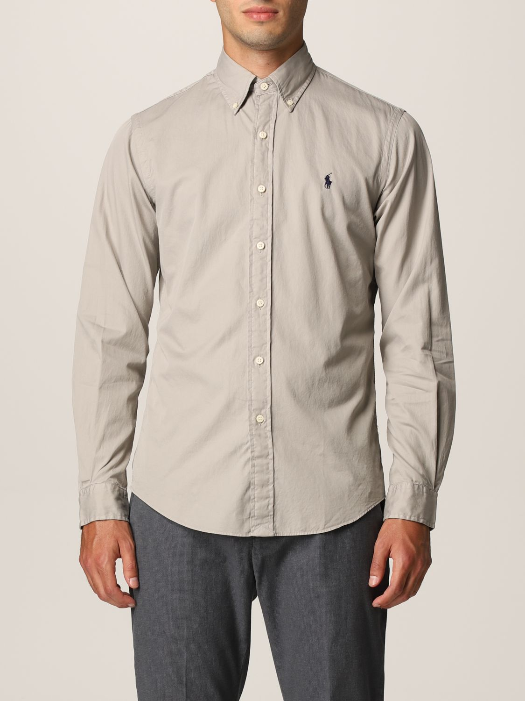 Camisa Polo Ralph Lauren: Camisa hombre Polo Ralph Lauren gris 1