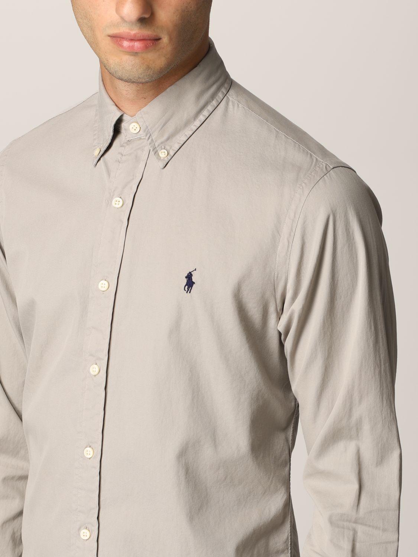 Camisa Polo Ralph Lauren: Camisa hombre Polo Ralph Lauren gris 3