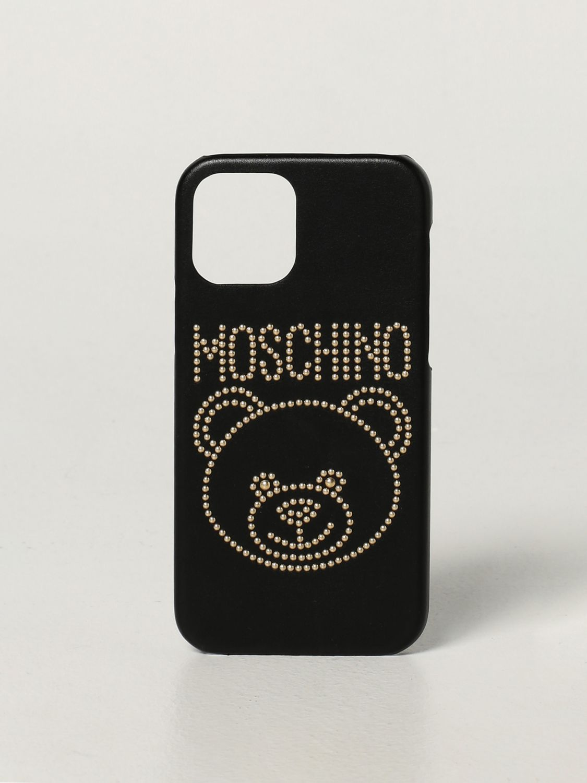 Cover Moschino Couture: Cover Iphone 12/12 Pro Moschino Couture con Teddy nero 1