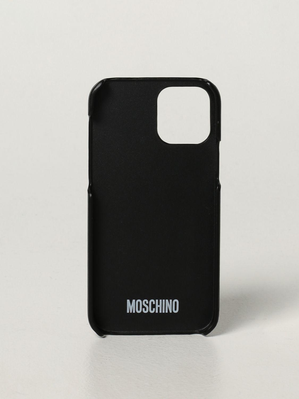 Cover Moschino Couture: Cover Iphone 12/12 Pro Moschino Couture con Teddy nero 2