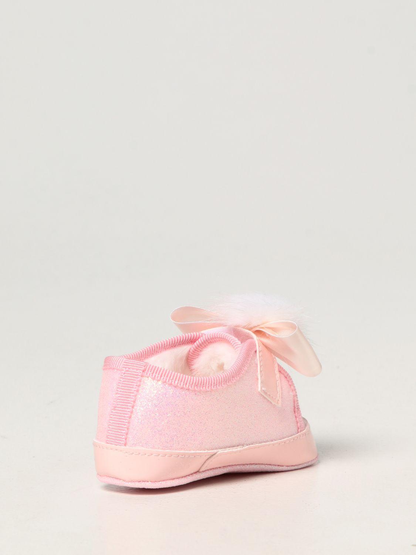 Scarpe Monnalisa: Scarpe da culla Monnalisa in tela glitter rosa 3