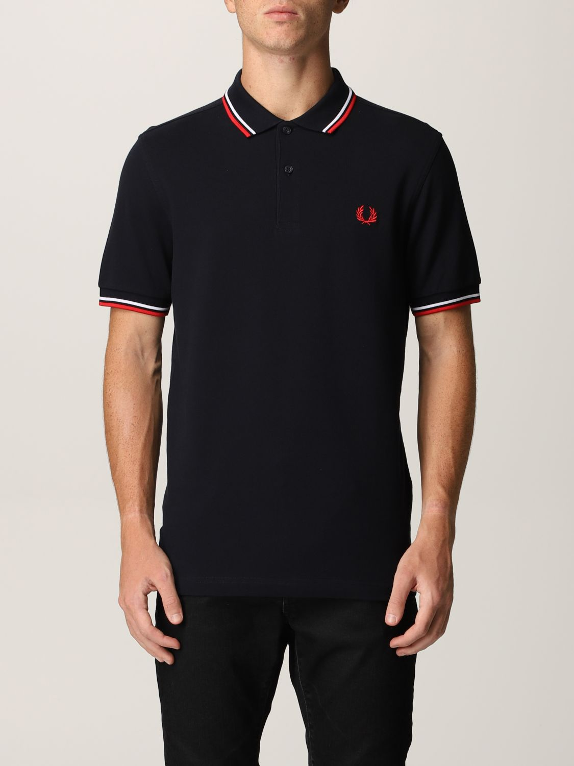 Polo shirt Fred Perry: Fred Perry polo shirt in piqué cotton blue 1