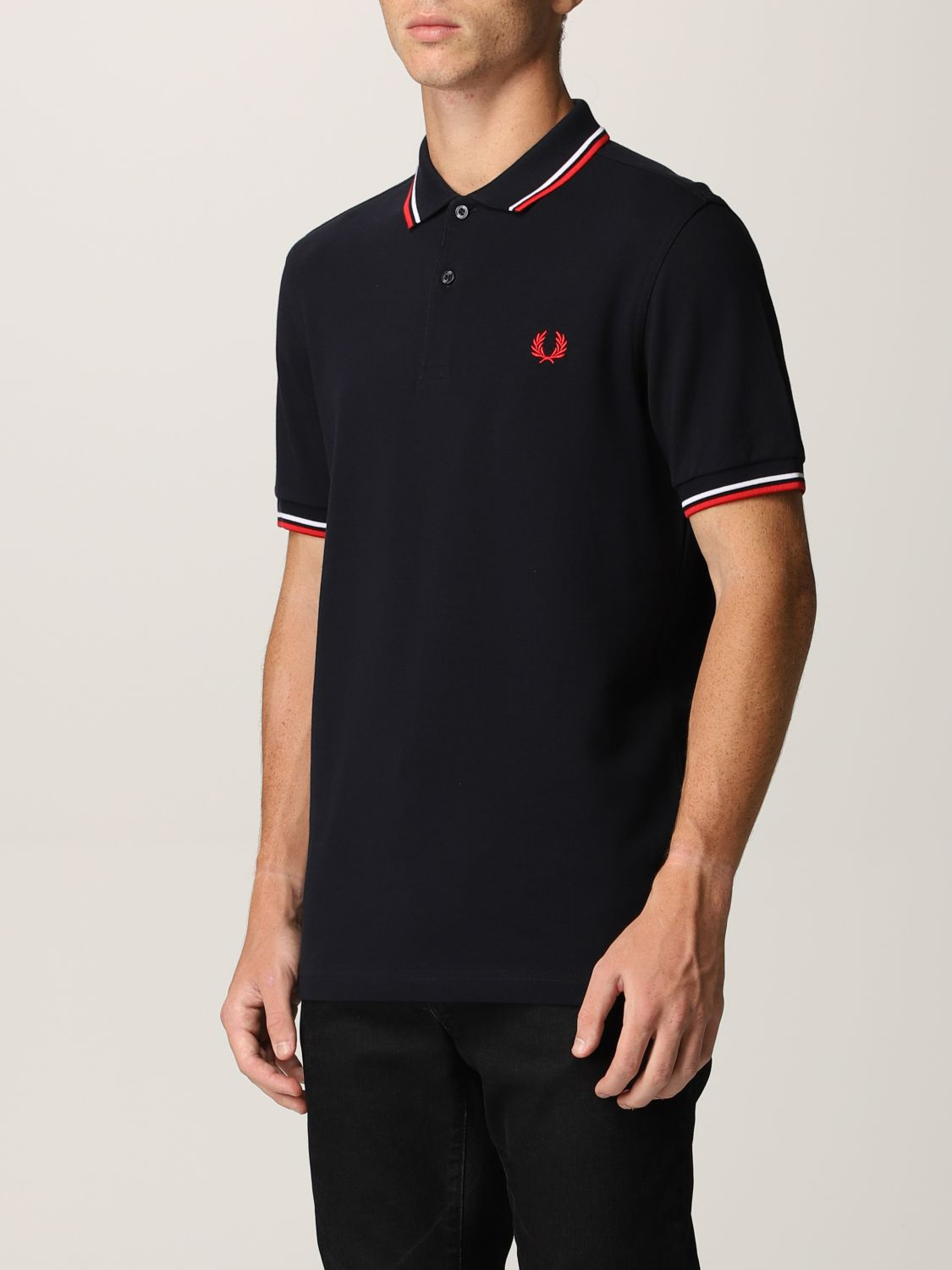 Polo shirt Fred Perry: Fred Perry polo shirt in piqué cotton blue 3