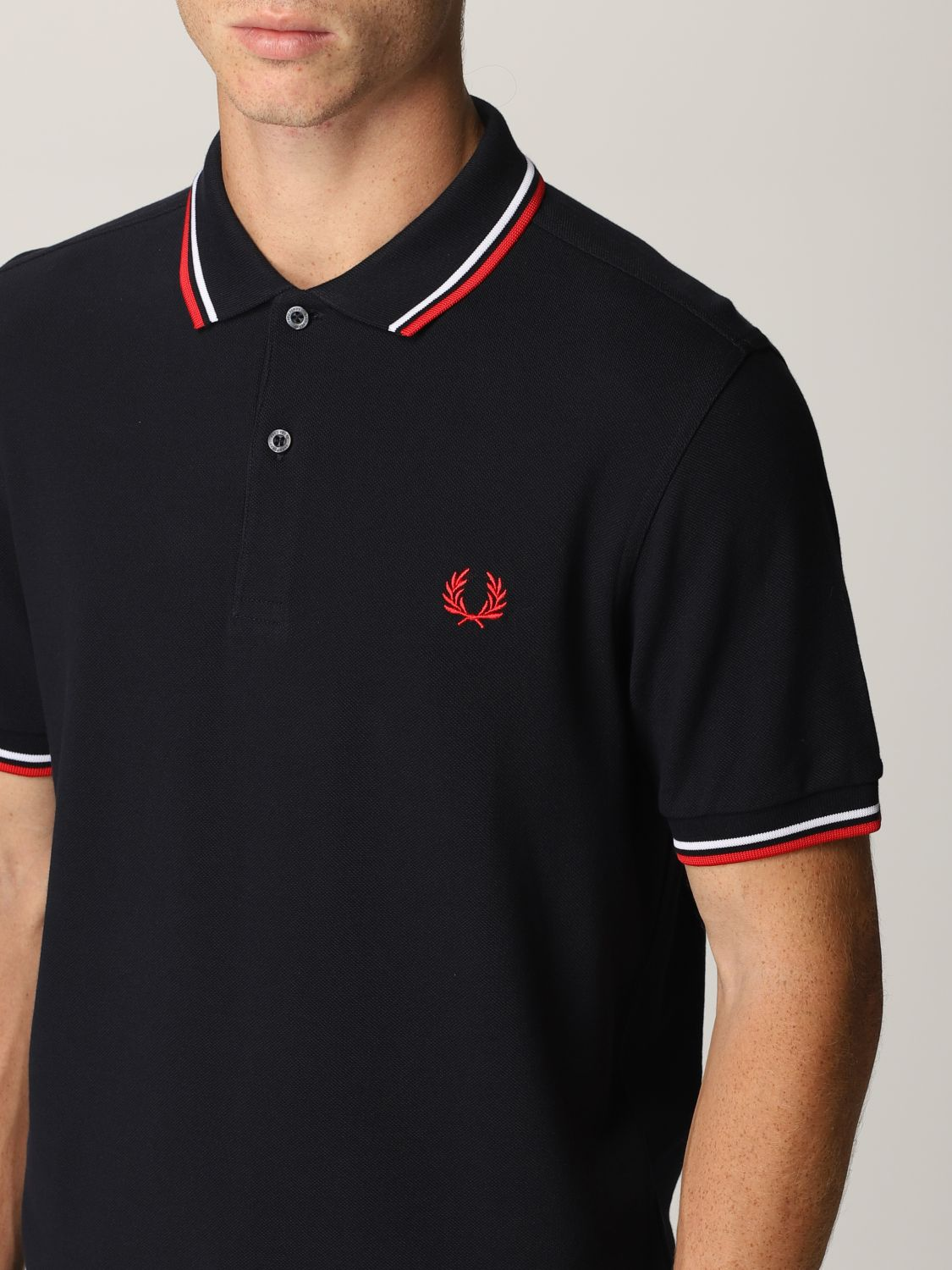 Polo shirt Fred Perry: Fred Perry polo shirt in piqué cotton blue 4