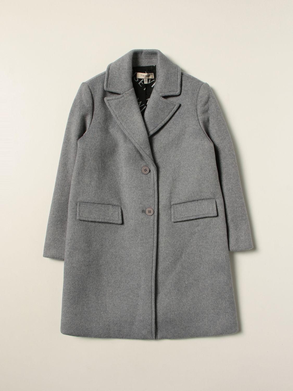 Coat Twin Set: Coat kids Twin Set grey 1