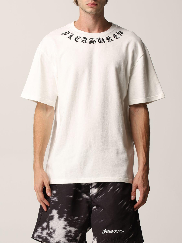 T-Shirt Pleasures: T-shirt herren Pleasures weiß 1