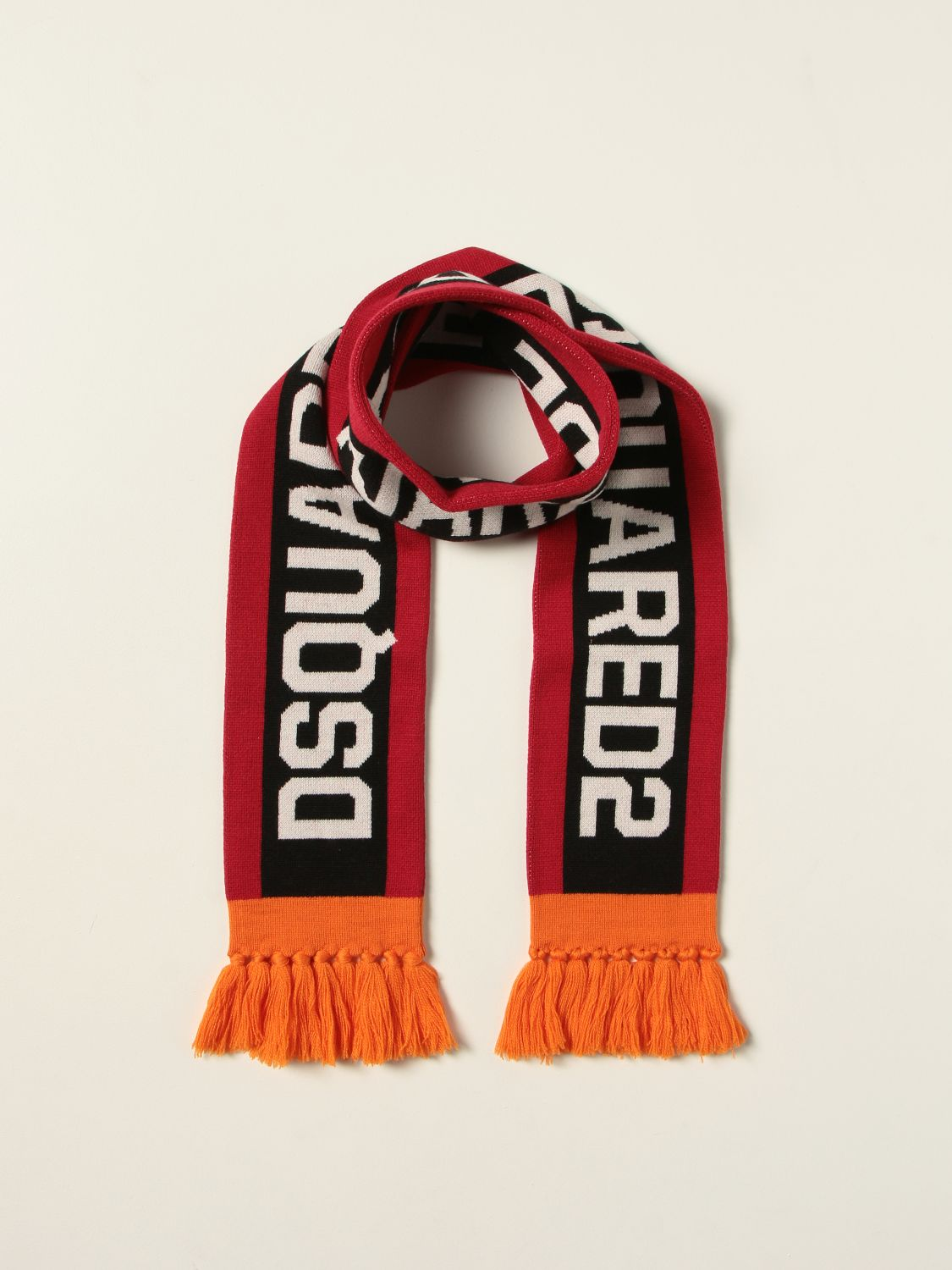 Scarf Dsquared2 Junior: Dsquared2 Junior scarf with inlay red 2