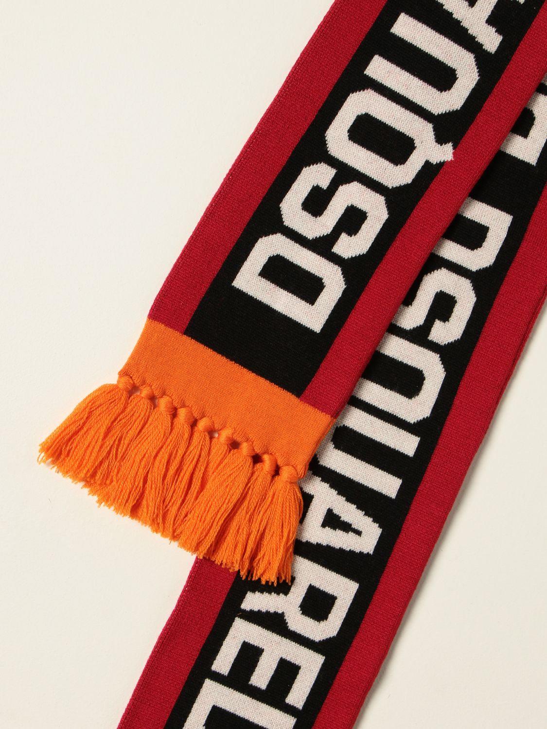 Scarf Dsquared2 Junior: Dsquared2 Junior scarf with inlay red 3