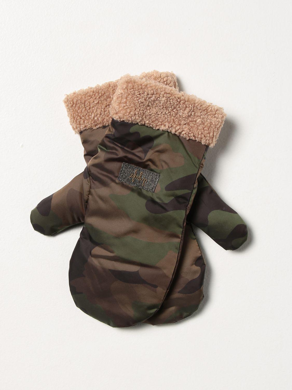 Gloves Il Gufo: Gloves kids Il Gufo green 1