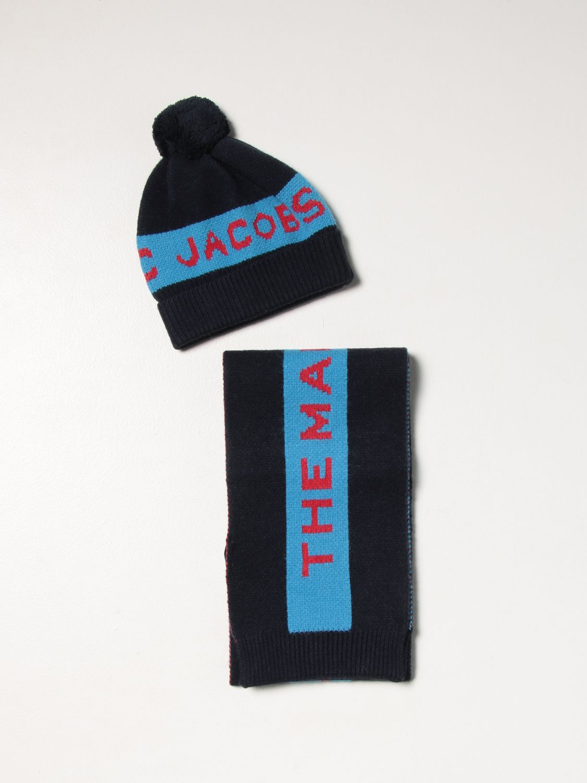 Completo Little Marc Jacobs: Set cappello + sciarpa Little Marc Jacobs marine 1