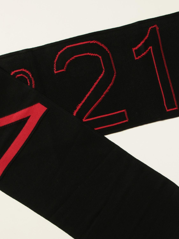 Scarf boy N° 21: N ° 21 scarf with inlays black 3