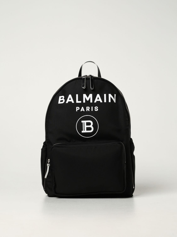 Duffel Bag Balmain: Balmain nylon rucksack with logo black 1