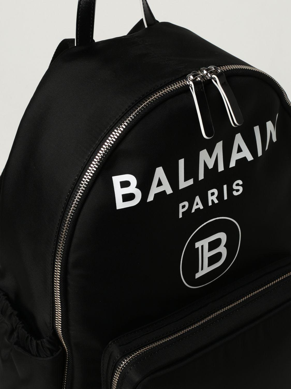 Duffel Bag Balmain: Balmain nylon rucksack with logo black 3