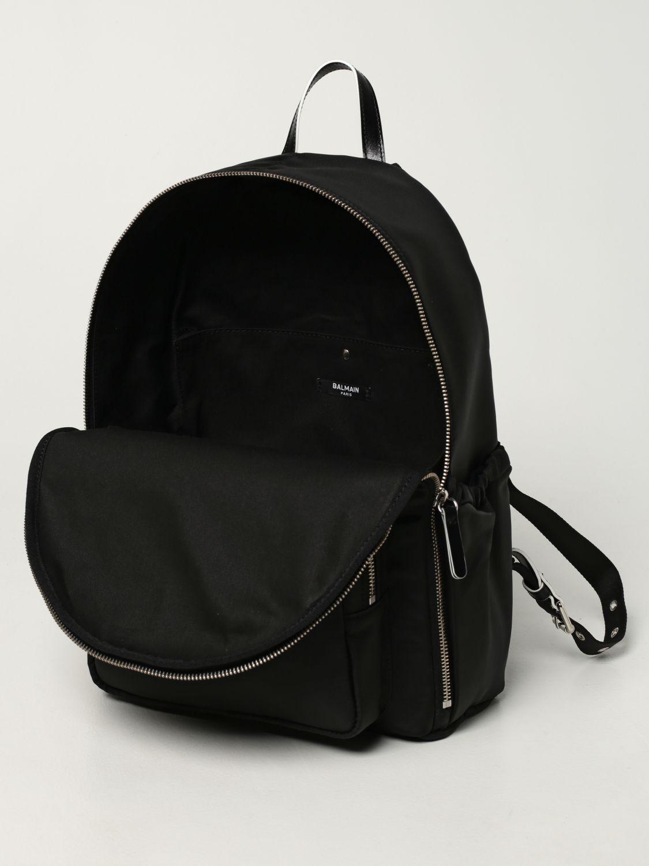 Duffel Bag Balmain: Balmain nylon rucksack with logo black 4