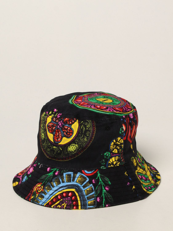 Hat Versace Jeans Couture: Versace Jeans Couture hat with Regalia Baroque print black 2