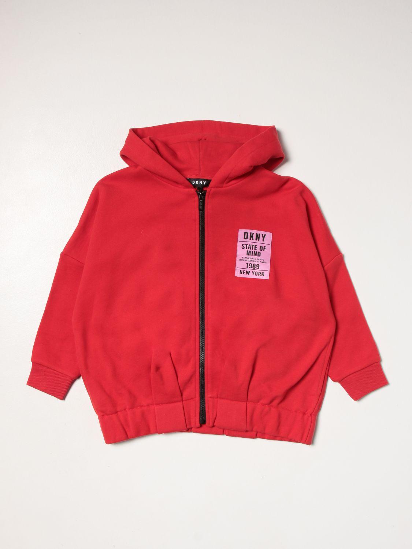 Maglia Dkny: Felpa Dkny con logo rosso 1