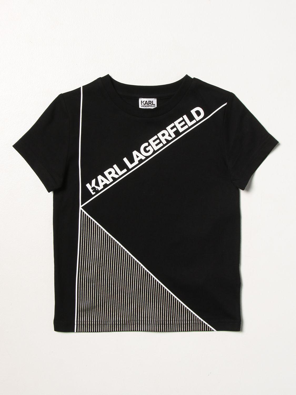 T-shirt Karl Lagerfeld Kids: T-shirt Karl Lagerfeld Kids con logo nero 1