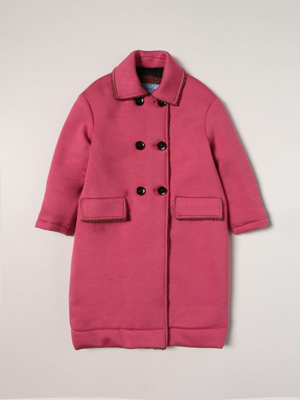 Coat Mi Mi Sol: Coat kids Mi Mi Sol fuchsia 1