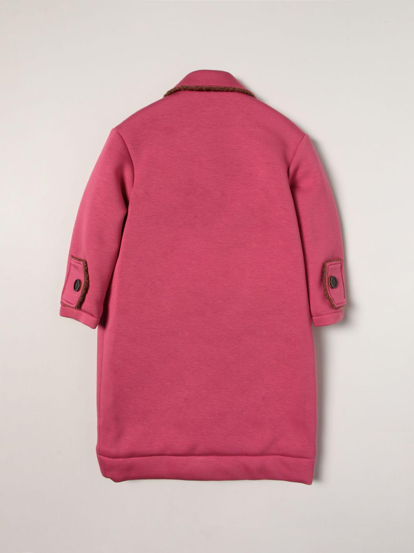 Coat Mi Mi Sol: Coat kids Mi Mi Sol fuchsia 2