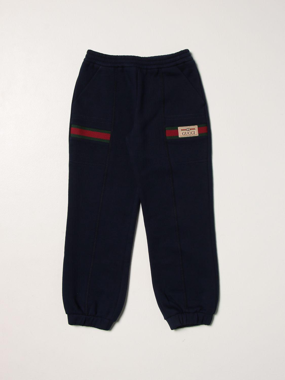 Pantalone Gucci: Pantalone jogging Gucci con logo blue 1