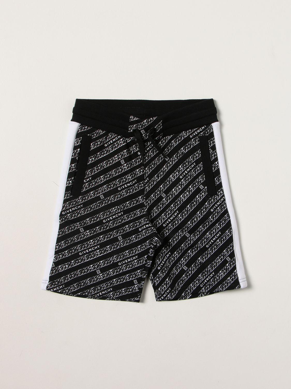 Pantaloncino Givenchy: Pantaloncino jogging Givenchy con logo all over nero 1