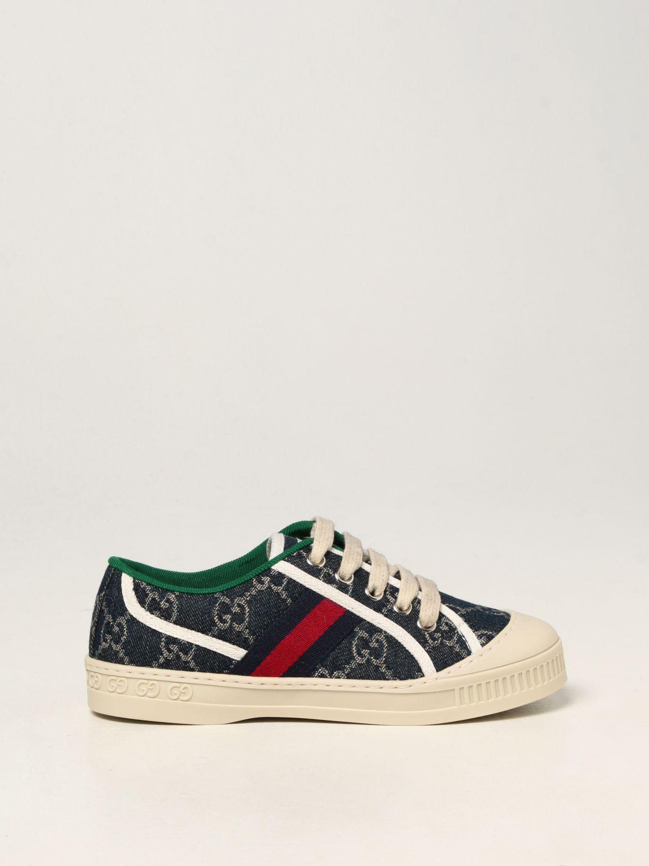 Scarpe Gucci: Sneakers Tennis 1977 Gucci in tela GG Supreme blue 1
