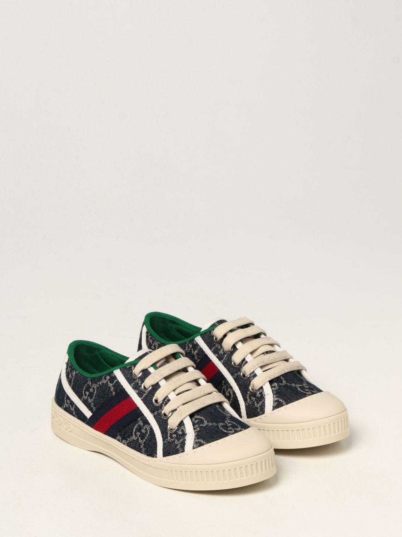 Scarpe Gucci: Sneakers Tennis 1977 Gucci in tela GG Supreme blue 2