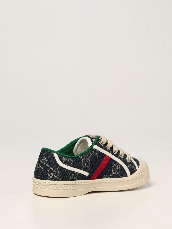 Scarpe Gucci: Sneakers Tennis 1977 Gucci in tela GG Supreme blue 3