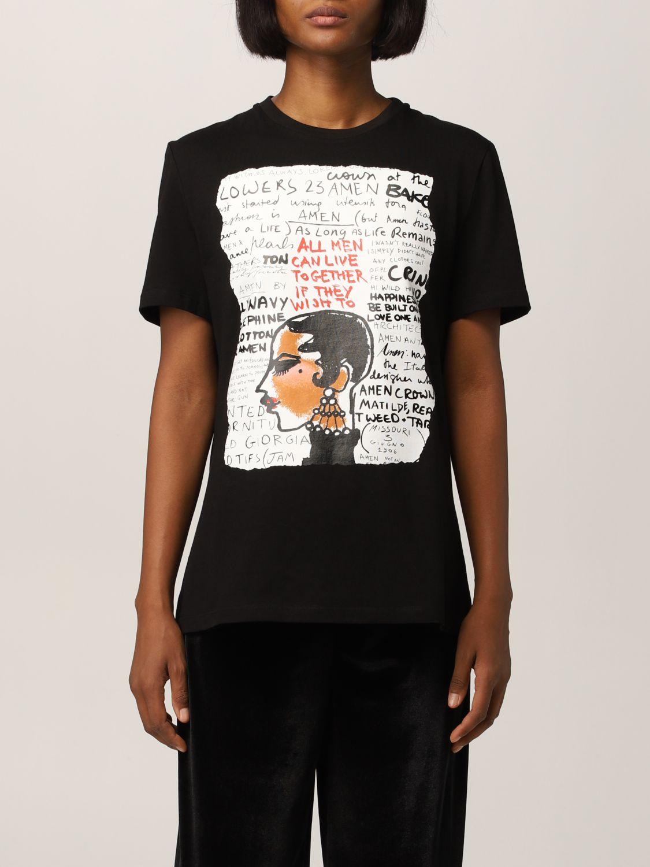 T-Shirt Amen: T-shirt women Amen black 1