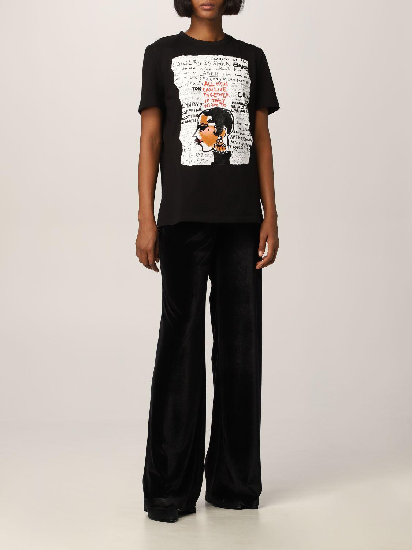 T-Shirt Amen: T-shirt women Amen black 2