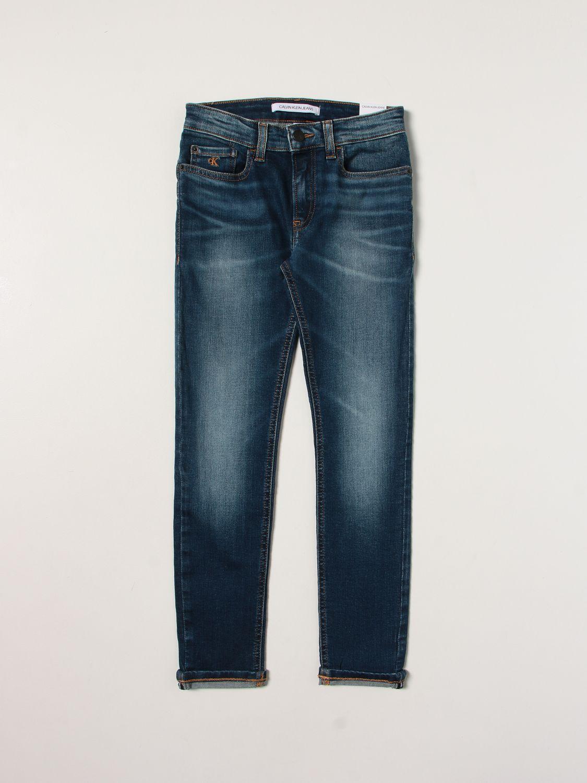 Jeans Calvin Klein: Jeans enfant Calvin Klein bleu 1