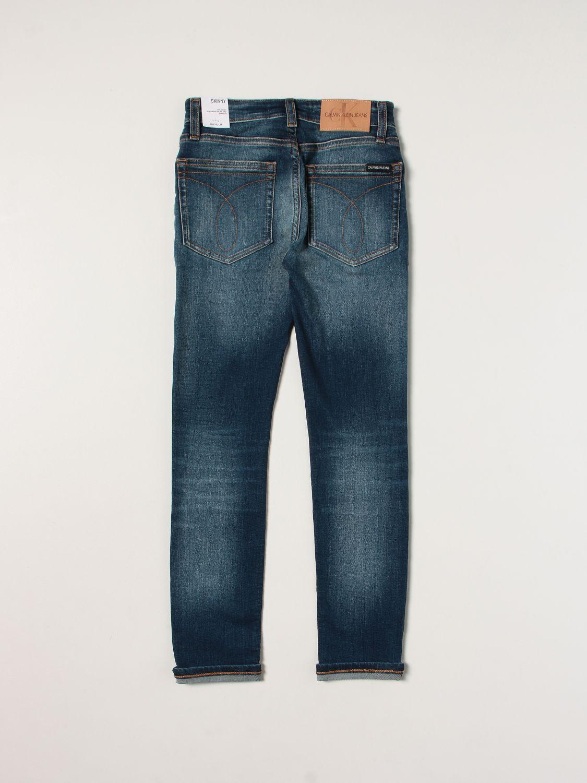 Jeans Calvin Klein: Jeans enfant Calvin Klein bleu 2