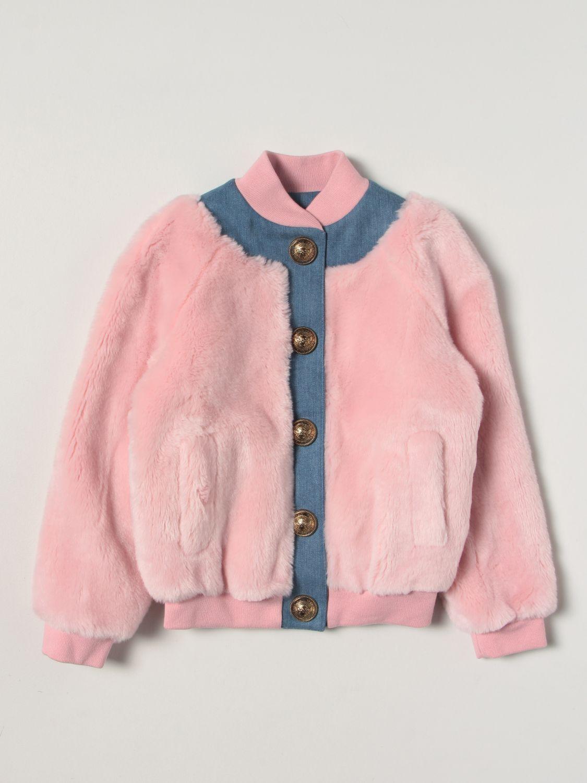 Куртка Balmain: Куртка Детское Balmain розовый 1