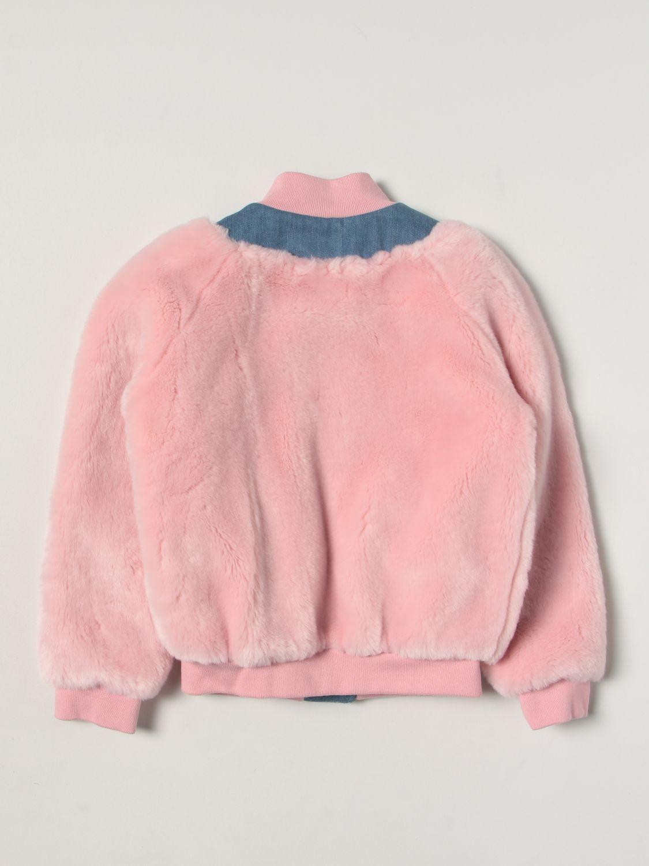 Куртка Balmain: Куртка Детское Balmain розовый 2