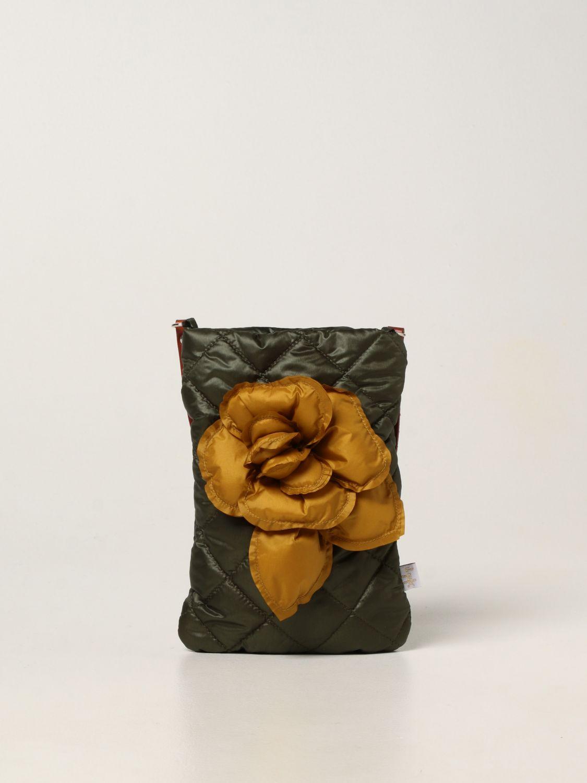 Cover Il Gufo: Il Gufo crossbody bag with maxi flower green 1