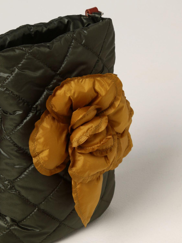 Cover Il Gufo: Il Gufo crossbody bag with maxi flower green 3