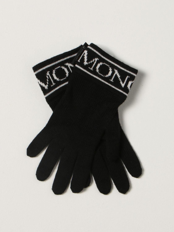 Gloves Moncler: Moncler gloves with logo black 1