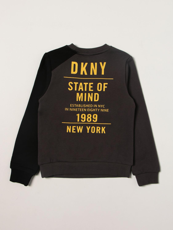 Maglia Dkny: Felpa Dkny con logo posteriore grigio 2