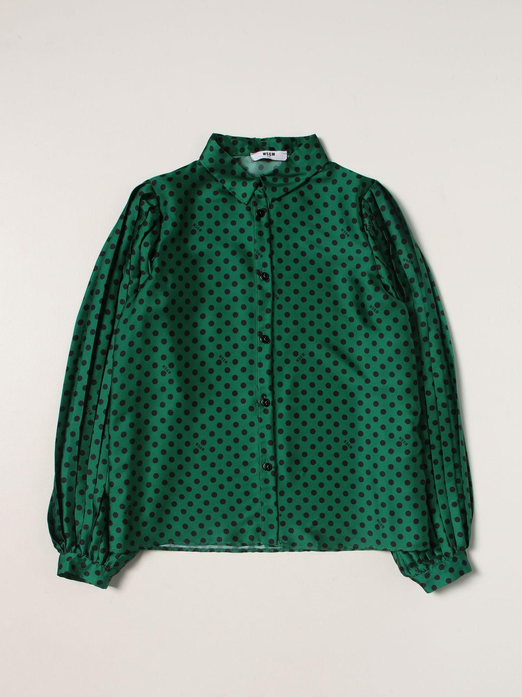 Shirt Msgm Kids: Shirt kids Msgm Kids green 1