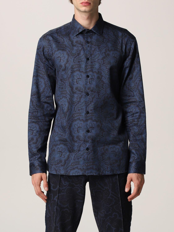 Camisa Etro: Camisa hombre Etro azul oscuro 1