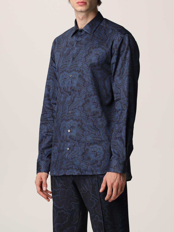 Camisa Etro: Camisa hombre Etro azul oscuro 4