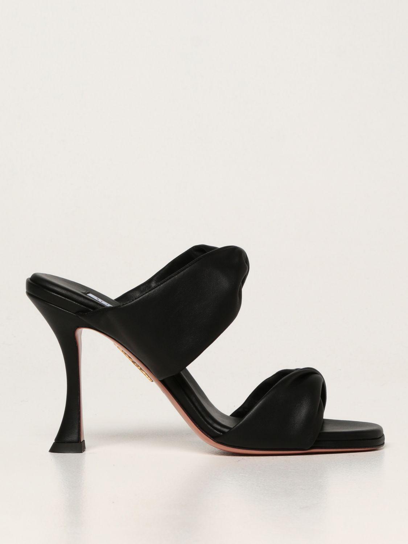 Scarpe con tacco Aquazzura: Sandali Aquazzura in nappa nero 1