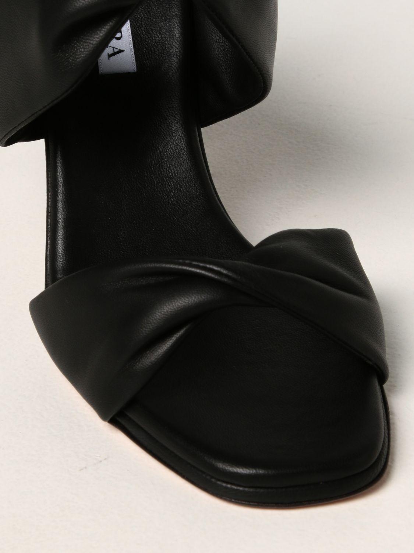 Scarpe con tacco Aquazzura: Sandali Aquazzura in nappa nero 4