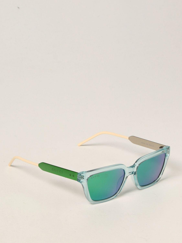 Occhiali Gucci: Occhiali da sole Gucci in acetato verde 1