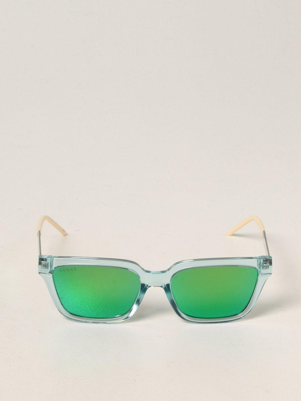 Occhiali Gucci: Occhiali da sole Gucci in acetato verde 2