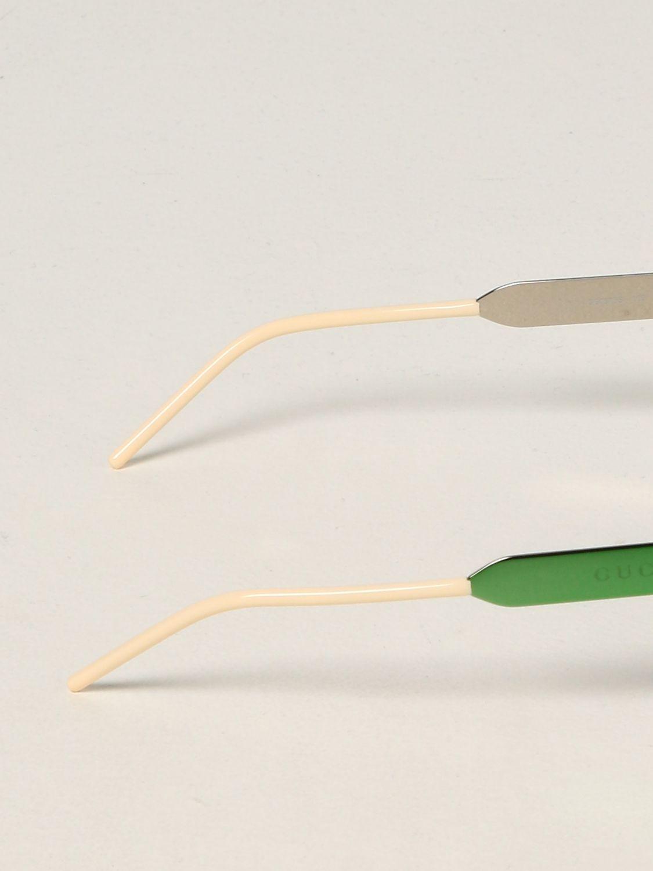 Occhiali Gucci: Occhiali da sole Gucci in acetato verde 3